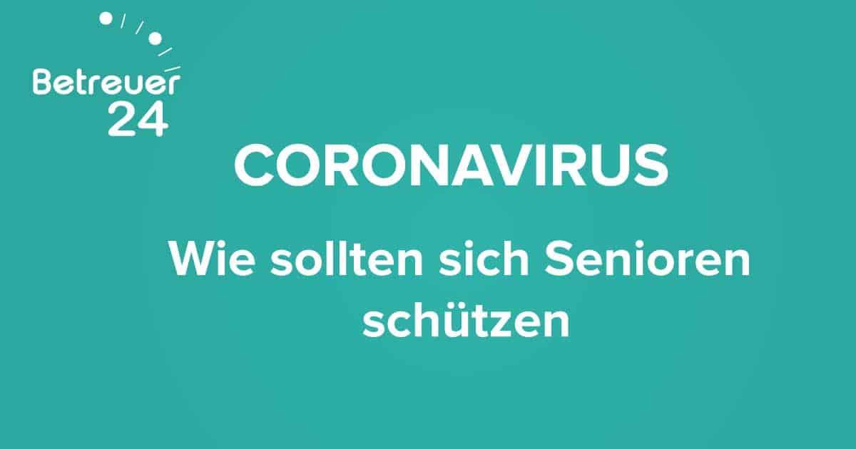 Coronavirus : Wie sollten sich Senioren schützen