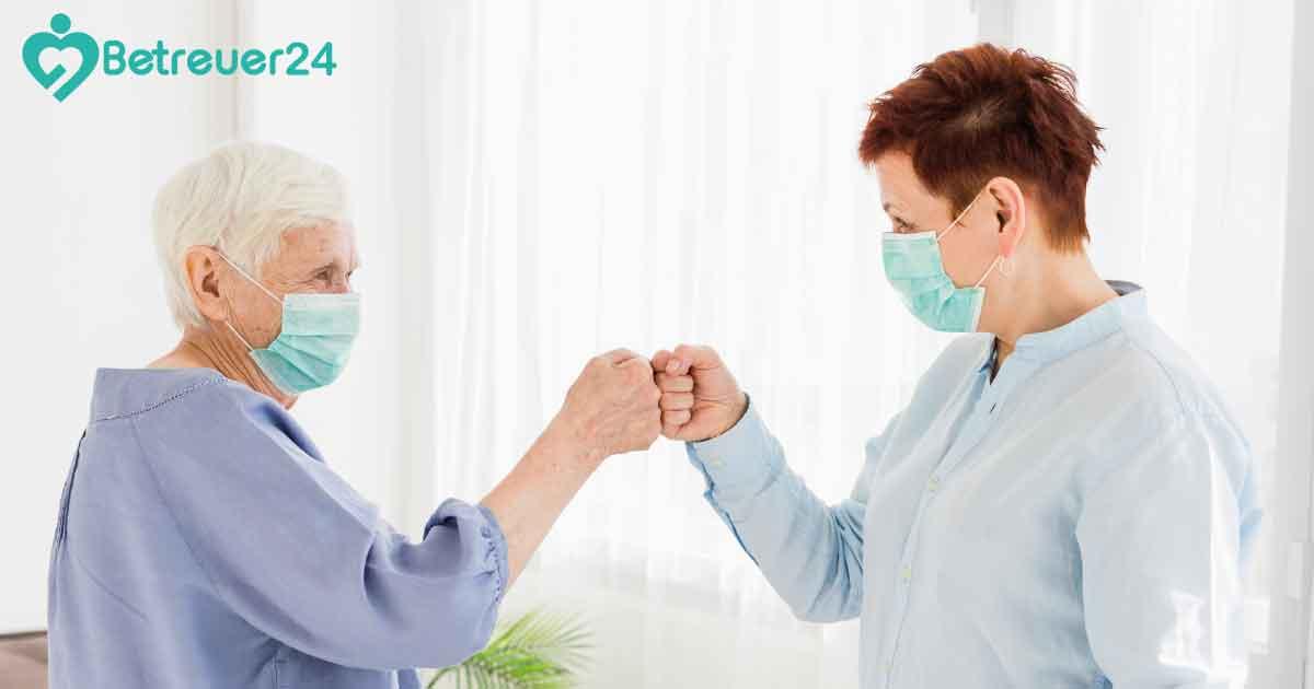 Betreuung mit Abstand - Pflege