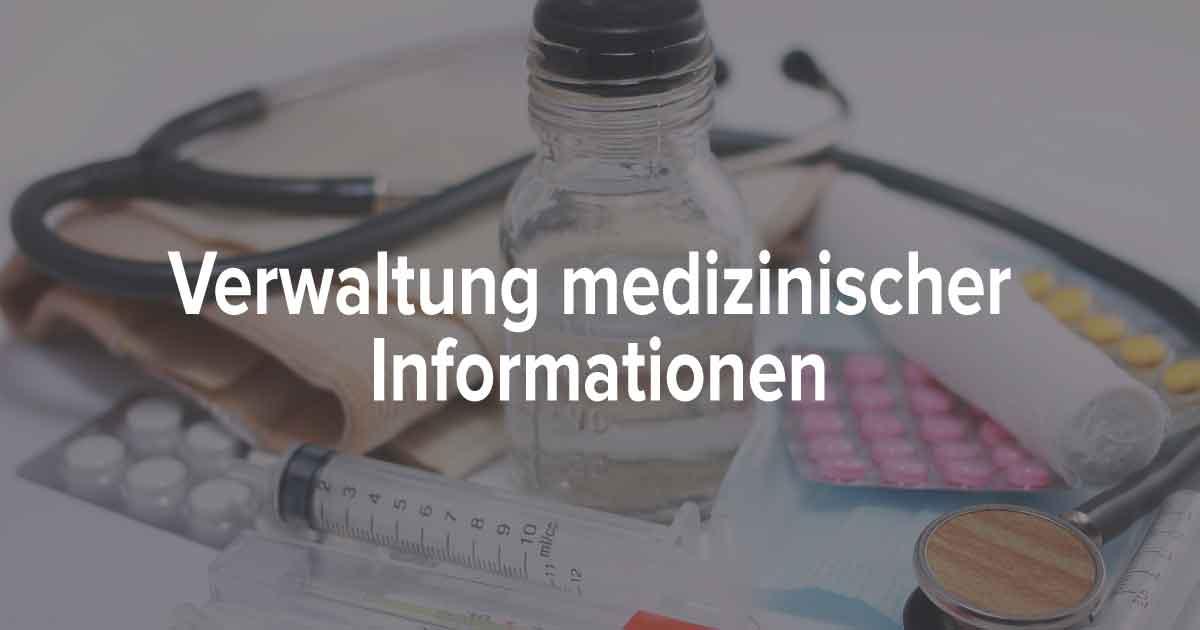 Checkliste für medizinische Informationen