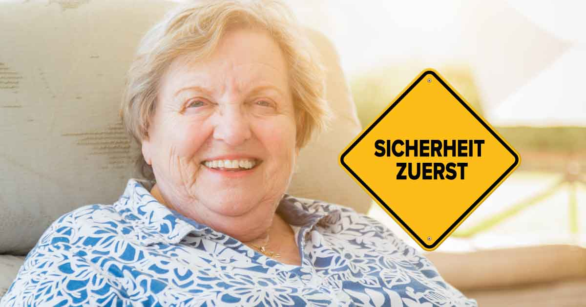 Sicherheit - Checkliste für allein lebende Senioren