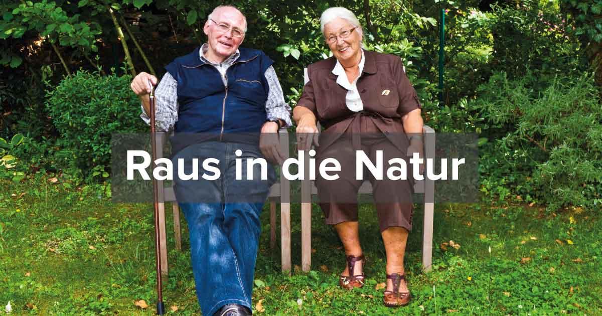 Raus in die Natur - Pflege zu Hause